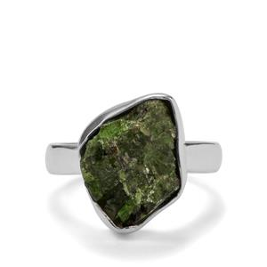 5.13ct Chrome Diopside Sterling Silver Ring