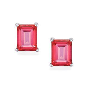 5.51ct Mystic Pink Topaz Sterling Silver Earrings