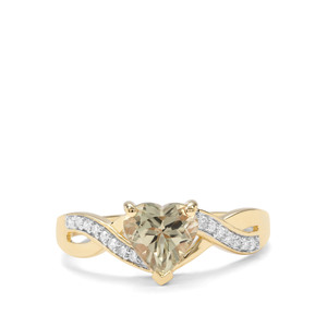 Csarite® & Diamond 9K Gold Ring ATGW 1.37cts