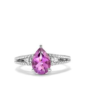 Kenyan Amethyst Ring with White Topaz in Sterling Silver 1.68cts