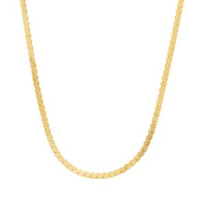 """18"""" Midas Dettaglio Twisted Flat Serpentina Chain 2.16g"""