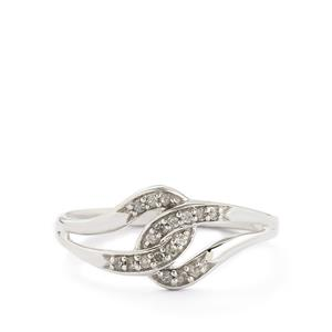 1/8ct Diamond Sterling Silver Ring