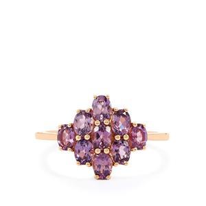 1.59ct Mahenge Purple Spinel 10K Rose Gold Ring