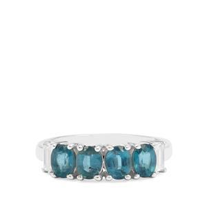 Orissa Kyanite & White Zircon Sterling Silver Ring ATGW 2.22cts