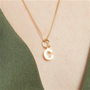 Molte C Letter Charm in Gold Plated Silver