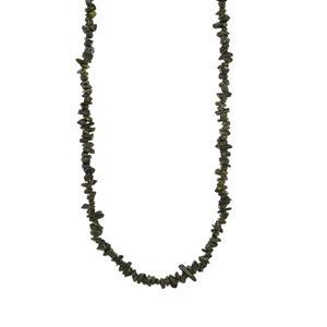 130ct Epidote Nugget Bead Necklace