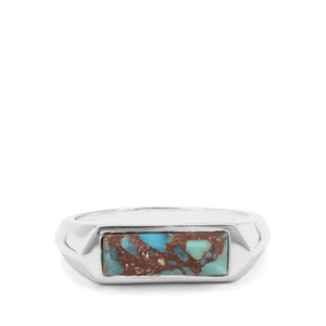 1.25ct Egyptian Turquoise Sterling Silver Ring