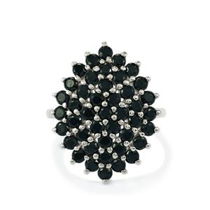 3.46ct Black Spinel Sterling Silver Ring