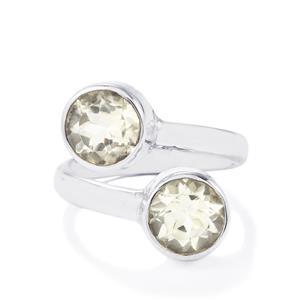 4ct Optic Quartz Sterling Silver Aryonna Ring