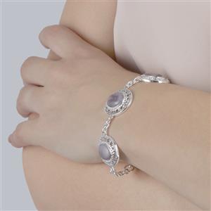 Botswana Agate Bracelet in Sterling Silver 16.00ct
