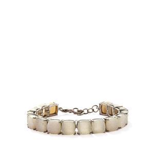 63.74ct White Drusy Sterling Silver Bracelet