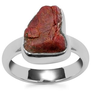 Burmese Ruby Ring in Sterling Silver 6.55cts
