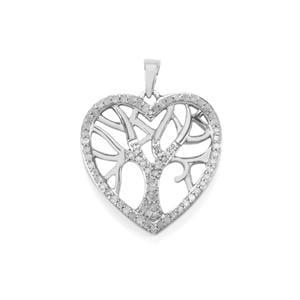 Diamond Pendant in Sterling Silver 0.55ct