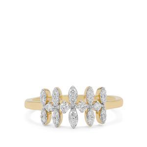 Russian VSi Diamond Ring in 9K Gold 0.34ct