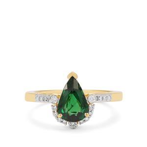 Tsavorite Garnet & Diamond 18K Gold Tomas Rae Ring MTGW 1.80cts