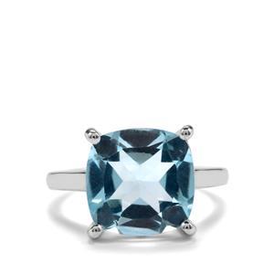6.40ct Sky Blue Topaz Sterling Silver Designer Ring