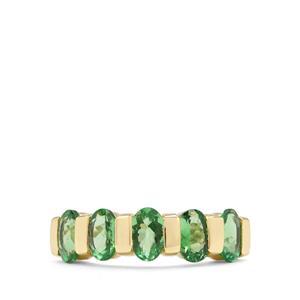 2.27ct Tsavorite Garnet 9K Gold Tomas Rae Ring