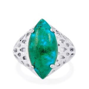 Chrysocolla Ring in Sterling Silver 9cts