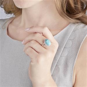 Cochise Turquoise Ring in Sterling Silver 5.24cts