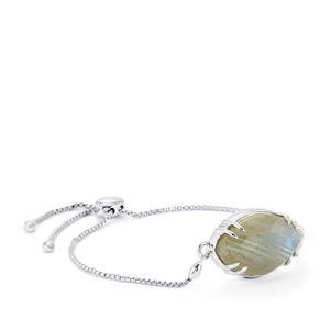 17.05ct Labradorite Sterling Silver Slider Bracelet