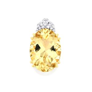 Serenite Pendant with Diamond in 18K Gold 10.70cts
