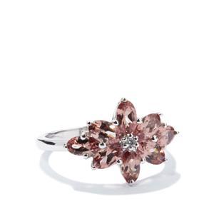 Tanzanian Colour Change Garnet & Diamond 9k White Gold Ring ATGW 2.32cts