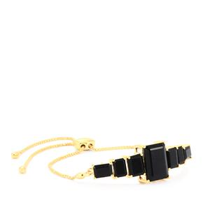 Black Onyx Slider Bracelet in Gold Plated Sterling Silver 13.43cts
