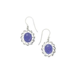 11.00ct Tanzanite Sterling Silver Earrings