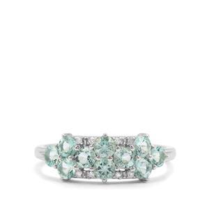 Aquaiba™ Beryl & Diamond 9K White Gold Ring ATGW 0.94ct