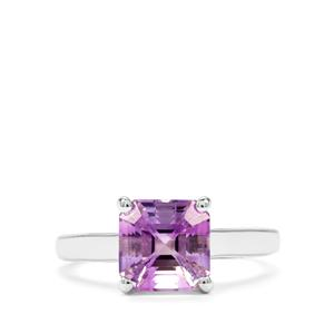 2.69ct Asscher Cut Moroccan Amethyst Sterling Silver Ring