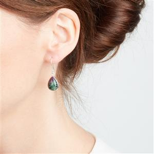 Ruby-Zoisite Earrings in Sterling Silver 12.85cts