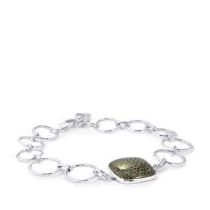 Black Coral Bracelet in Sterling Silver 13.92cts