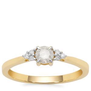 Diamond Ring in 9K Gold 0.33ct
