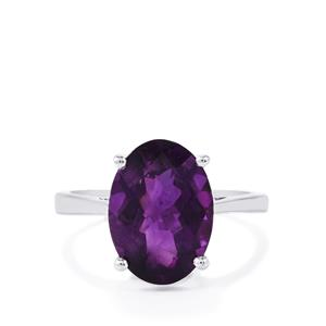Zambian Amethyst Ring in Sterling Silver 4.50cts