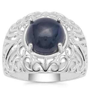 Ceylon Blue Sapphire Ring in Sterling Silver 5.85cts