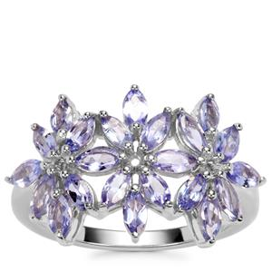 Tanzanite Ring in Sterling Silver 1.76cts