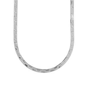 """18"""" Sterling Silver Dettaglio Herringbone Chain 4.22g"""