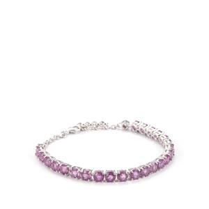 Ilakaka Hot Pink Sapphire Bracelet with Pink Sapphire in Sterling Silver 16.57cts (F)