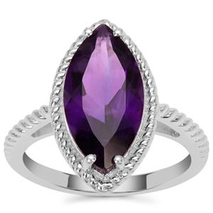 Zambian Amethyst Ring in Sterling Silver 3.60cts