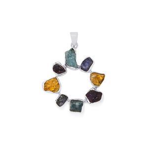 17.84ct Kaleidoscope Gemstones Sterling Silver Pendant