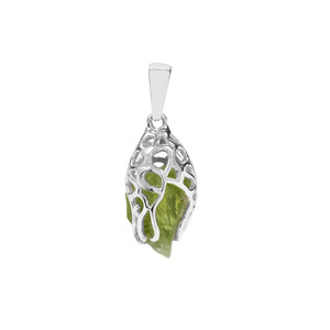 Suppatt Peridot Pendant in Sterling Silver 7.84cts