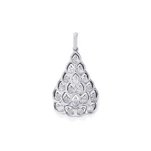 1ct Diamond 10K White Gold Tomas Rae Pendant