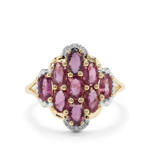 Sant Ruby & Diamond 9K Gold Ring ATGW 2.28cts