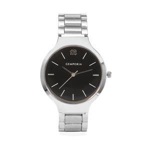 Silver Case, Black Dial Watch With Adjustable Alloy Chain Analog Display (HC21) (Lww-Alc-lx-020707)