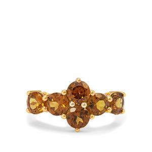 Mali Garnet Ring in 9K Gold 3.50cts