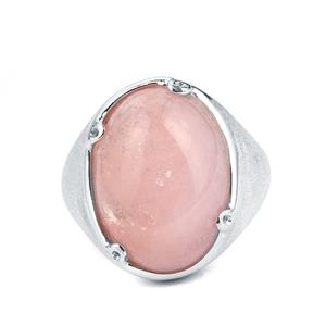 13.47ct Morganite Sarah Bennett Sterling Silver Ring