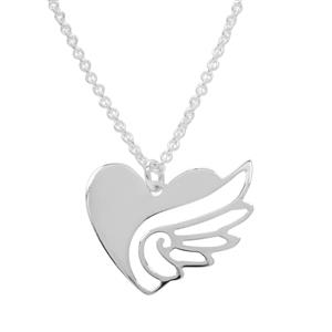"""18"""" Sterling Silver Altro Wings Necklace 3.72g"""