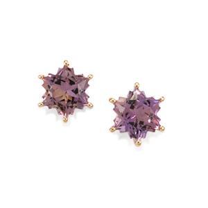 4.18ct Anahi Ametrine 9K Gold Wobito Snowflake Earrings