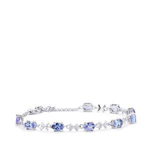 Tanzanite Bracelet in Sterling Silver 3.92cts