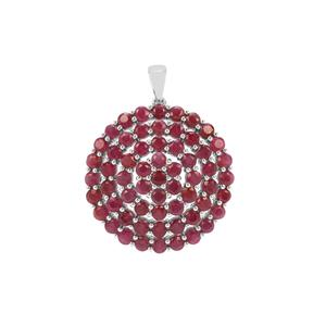 Bangalore Ruby Pendant in Sterling Silver 10.98cts
